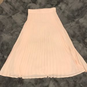 Forever 21 Accordion Pleat Midi Skirt
